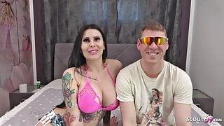 VIRGIN BOY FIRST SEX - German Pornstar Xania Wet help him