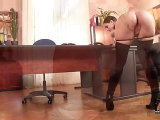 Boot and sex fetish and video clips - Secretary in boots