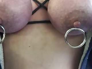 Hard nipples tits tied Bouncing tied tits
