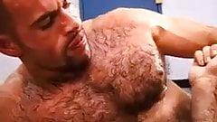 Hairy sweaty muscle