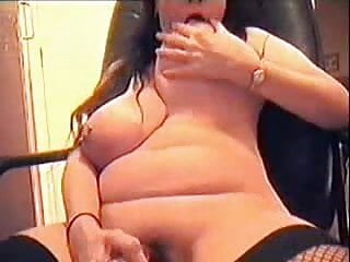 My fre web cams porn - Great masturbation of my hot chubby mom on web cam