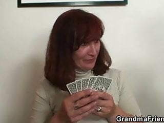 Strip arcade poker games Granny swallows two cocks after poker game