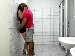 Sexy blonde tranny Fucking sexy tranny whore in the toilet