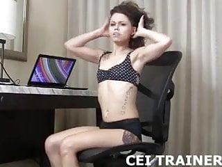 Mistress forcing sissys to eat cum I caught you jerking so you have to eat your own cum cei