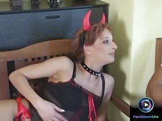 Huge tit in uniform fucks xvideos Dia in devil uniform milking a huge dick for cum