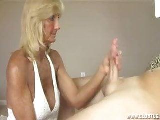 Grandma Jerking Off