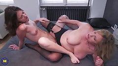 Mothers enjoy hot lesbian sex