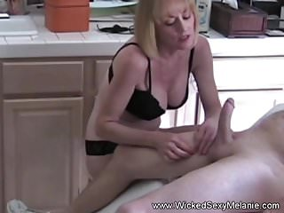First orgasm with my grandmother Handjob from my grandmother