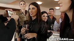 Two outstanding pornstars suck and jack off mature dude