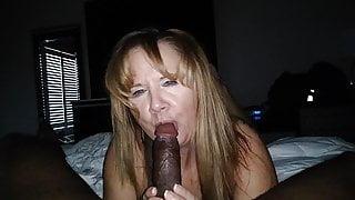 Blonde milf mouth