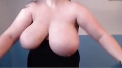 BBW jogging as tits falls out on treadmill