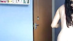 Hot busty girl is taking a shower 1-3