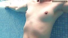 Hot tattooed Czech sexy in the pool