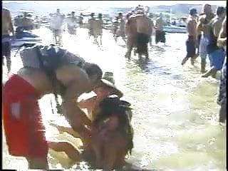 Blonde teens having sex Hot babes having sex in water