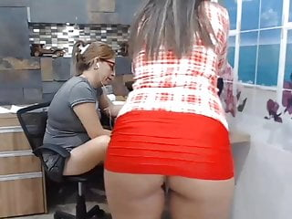 Office tube secretary skirt ass Short skirt in the office 12