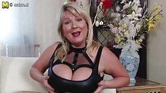 British big breasted mom goes wild
