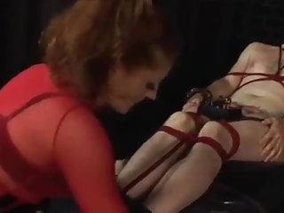 Electric bondage mpegs Domme and naked male slave in electric city scene two