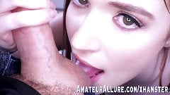 BUSTY BABE HAZEL MOORE LOVES GIVING - A BLOWJOB