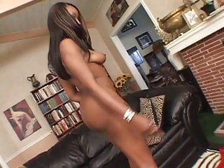 Vintage white round tableclot ct Ebony with round ass gets her pussy slammed by white stud