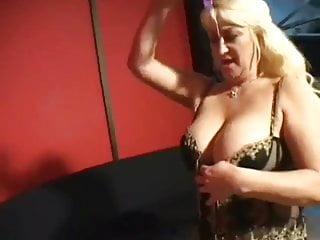 Mature blonde smoking Brassy busty blonde granny smokes him