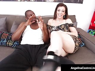 First from jay sara sex teacher - Lucky black dude gets bj from bbw angelina castro sara jay