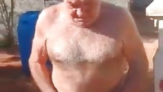 Hairy Grandad Sanvito naked, touched and kissed