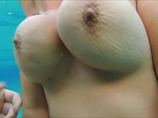 Bare tits underwater videos - Underwater big nipple pinching