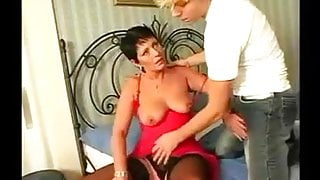 Sexy French Milf seduces young man part 1