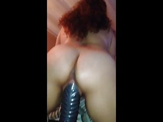 Busty thick dildo - Thick wife rides thick dildo