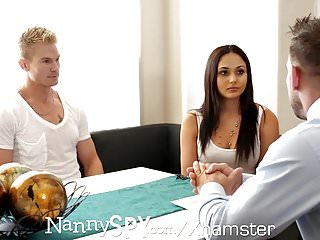 Gay sons and dads videos Nannyspy dad fucks nanny ariana marie after caught with son