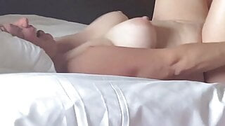 Banging Wife's Hard Big Tits