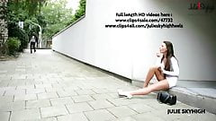 best of whore flashing in miniskirt street platform heels