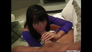 Anita Blond eagerly sucks cock and gets a load of cum