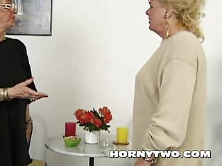 Fat lesbian threesome - Two fat lesbian grannies licking their old hairy cooches