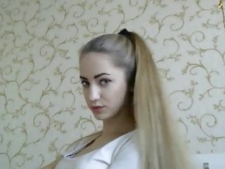 Sexy hairstyles for girls Fantastic blonde hairstyle and hairplay, long hair, hair