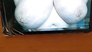 shooting load at my tits
