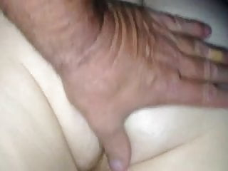 Ass pussy white Rubbing the wifes white hairy ass pussy