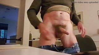 Jeds stiff cock shoots massive load