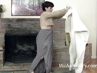 Muckboots adult chore Simone finishes chore and masturbates by fireplace
