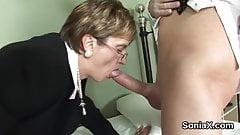 unfaithful british mature lady sonia displays her big boob
