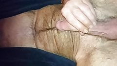Playing with my 7 inch cock