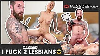 Watch me fuck two lesbians! MISSDEP.com