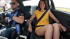 Russian upskirt in a car