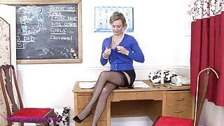 Betsy Blue, the strict teacher