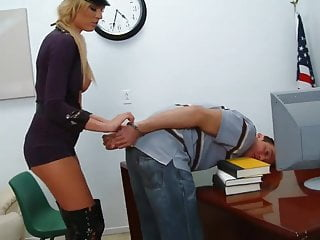 Busty policewoman fucks prisoner Policewoman fucked from all sides