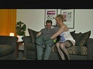 Bit cock vs mature - German mom vs cock