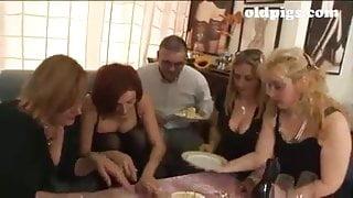 Tina Monti and Italian matures orgy