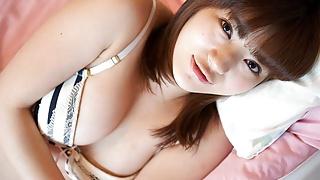 Japanese housewife Mai Misato masturbates, uncensored