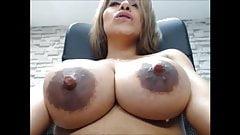 SEXY LATINA BIG SAGGY MILKY TITS