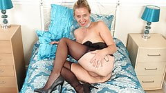 English milf Caz fingers her arse while toying fanny